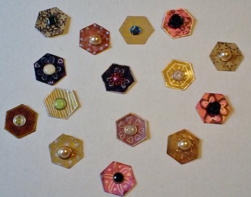 Hexagon Buttons