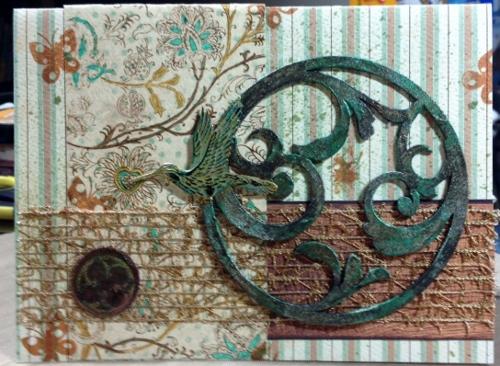 Swirly Jan butterfly challenge card