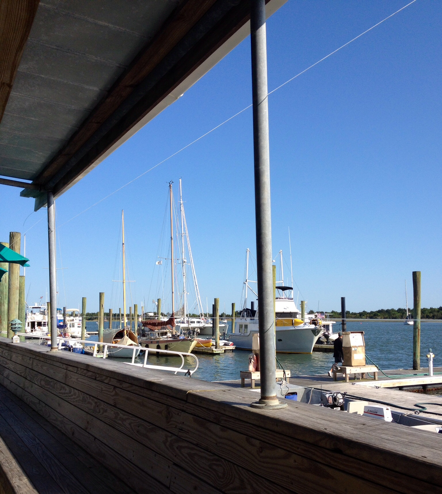 The view from Finz, Beaufort, North Carolina